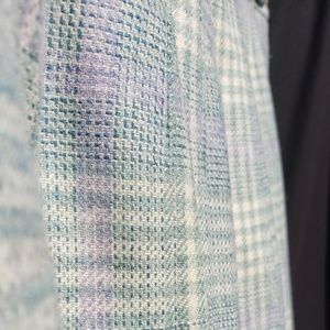 Beautifully Woven Pastel Wool Skirt - VINTAGE 12